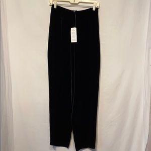 NWT Eileen Fisher Black Velvet Pants Small